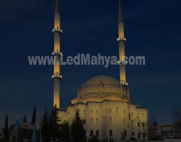Cami Minare Kubbe Kandil Aydınlatma Sistemi